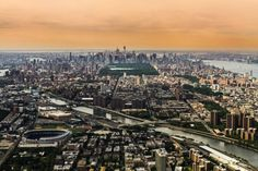 Manhattan seen from a helicopter  #city #manhattan #seen #helicopter
