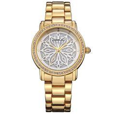 4acb566aa90 CRRJU 2109 Diamonds Dial Case Women Wrist Watch