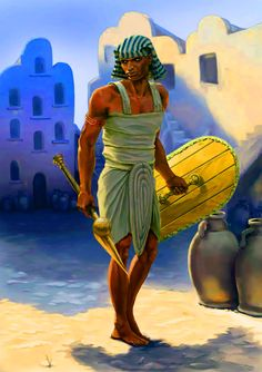 Ancient Egyptian soldier of the New Kingdom