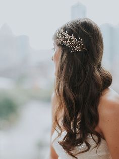 Sofie, not for the faint of heart. #bridalhair See more here: http://www.davieandchiyo.com/collections/wedding-hair-accessories/products/petite-sofie-head-piece