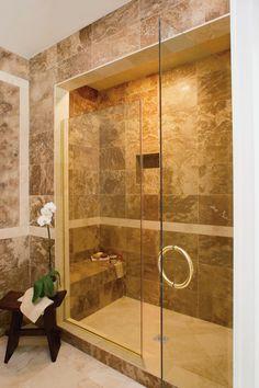 Consigue este estilo usando azulejos y muros.