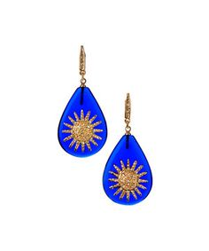 Look what I found on #zulily! Marlyn Schiff Goldtone & Navy Sunburst Teardrop Earrings by Marlyn Schiff #zulilyfinds