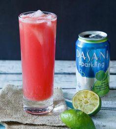 Watermelon + Lime Sparkling Agua Fresca.