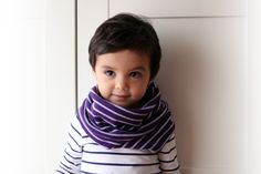Kid cowl cashmere blend. Children neckwarmer, circular scarf, italian cashmere blend. Stripes. Unisex.. €23.00, via Etsy.