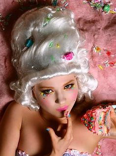 Marie Antoinette Candy Makeup