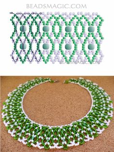 Free pattern for necklace First Snowdrop   Beads Magic