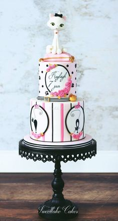 Kitty Jubilee ~ lovely kitty cake