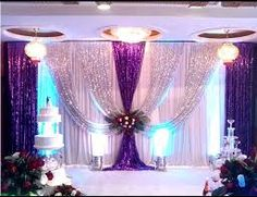 Resultado de imagen para purple and silver wedding decorations