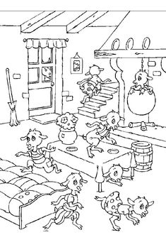 goldilocks coloring page of the three bears leaving the cottage more fairytale coloring pages. Black Bedroom Furniture Sets. Home Design Ideas