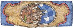 Jan Brett's armadillo rodeo bookmark