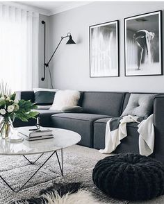 Tarina @oh.eight.oh.nine has new photographic art and is rocking monochrome like only she can! | Our Como marble coffee table in excellent company as always - tap for details | #GlobeWest #monochrome #living #interiorinspo #modern #furniture #coffeetable