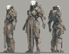 Artstation - murdock droid, zak foreman mecha in 2019 дизайн Robot Concept Art, Armor Concept, Robot Art, Character Concept, Character Art, Futuristic Armour, Sci Fi Armor, Ex Machina, Cyberpunk Art