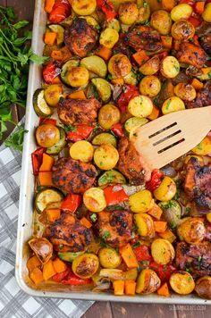 Slimming Eats - Slimming World Recipes Low Syn Chicken, Potato, Vegetable Tray Bake | Slimming World