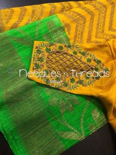 Ideas for embroidery blouse designs Cutwork Blouse Designs, Kids Blouse Designs, Wedding Saree Blouse Designs, Simple Blouse Designs, Saree Blouse Neck Designs, Wedding Blouses, Hand Designs, Designer Blouse Patterns, Cut Work