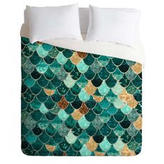 Monika Strigel Really Mermaid Duvet Cover | DENY Designs Home Accessories (Expensive...)
