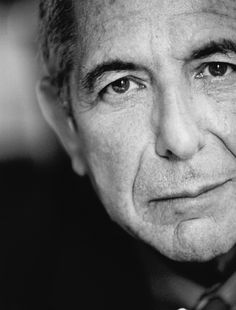 "A magnificent portrait of Leonard Cohen. Photo Monic Richard 2004 Part of the exhibition ""Les Montréalais inspirants"", Montréal."