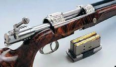 Lever Action Rifles, Bolt Action Rifle, Weapons Guns, Guns And Ammo, Double Barrel, Custom Guns, Hunting Rifles, Cool Guns, Steampunk