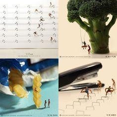 "From Art Director and photographer Tatsuya Tanaka's ""Miniature Calendar"""