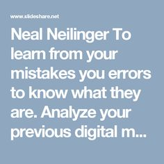 Being a digital marketing expert, Neal Neilinger is providing his SEO services for over 29 years. With an exceptional analytical mind and knowledge of digital … Learn From Your Mistakes, Marketing Techniques, Digital Marketing Strategy, Seo Services, To Focus, Improve Yourself, Organization, Learning, Getting Organized