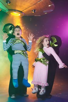Fun Halloween costume for boys & girls - alien abduction!