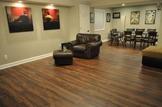 A fun basement completed with Lake Fork Creek Cedar Vinyl!
