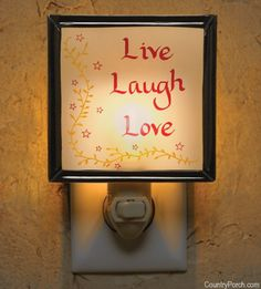 Live Laugh Love Night Light
