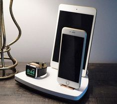 Charging stations NytStnd TRIO 1 Dock Charging Station for iPhone iPad by NytStnd Iphone 7, Coque Iphone 6, Iphone Charger, Apple Iphone, Iphone Cases, Iphone Stand, Mac Book, Apple Watch Accessories, Iphone Accessories