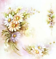 Flowers by Sonie Ames Floral Vintage, Vintage Flowers, Vintage Prints, Flower Images, Flower Art, Decoupage Paper, China Painting, Painting Art, Flower Backgrounds