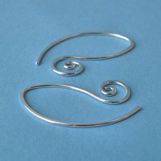 Swirly Leafette Earrings or Earwires Sterling by RockisMetalwork, $8.50