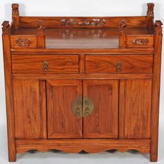 Asian-Inspired Tea Table from China. This tea table can also become your adult beverage table. Drink Table, Beverage Table, Chinese Cabinet, Asian Tea, Tea Storage, Wood Storage Cabinets, Inside Cabinets, Asian Furniture, Antique Cabinets