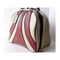 Beautiful old school bowling bag.  Love!