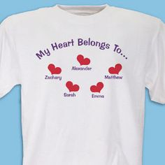 """[coupon_is_valid code=""""giftsforyounow""""][coupon_description code=""""giftsforyounow""""][/coupon_is_valid] Now anyone can proudly show off the whole family on thei Valentines Day Shirts, Valentine Day Gifts, Grandma Quotes, Great Mothers Day Gifts, Love T Shirt, Cute Tshirts, Diy Shirt, Personalized T Shirts, Coupon"""