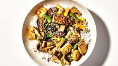 Tofu and mushroom stir fry