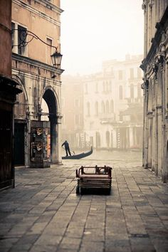 Venice in the fog, Italy. It was wonderful feeling knowing I have stood in that exact place in Venice, and even took a vaperetto ride from there! #italytrip