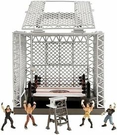 Mattel WWE Wrestling Exclusive Playset The Cell by Mattel, Inc.. $89.95. Spring-Loaded Mat for Real Ring Action!. Authentic Pay-Per-View Ring!. Easy-To-Climb Walls! Walls Open for Ring Access!. Breakaway Ceiling Panels--Crash Through Celing!. Huge Cage Covers Ring!. NA
