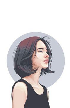 58 Ideas Digital Art Girl Fantasy Portraits For 2019 Portrait Vector, Digital Portrait, Portrait Art, Illustration Vector, Fantasy Illustration, Portrait Illustration, Illustrations, Cover Wattpad, Digital Art Photography