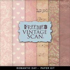 Freebies Background Kit - Romantic Day