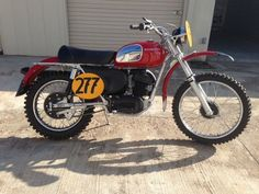 This is the actual 1970 Husqvarna 360 Sportsman John Penton raced in the 1970 ISDT in Spain.  He won a silver medal on it.
