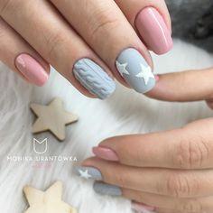 40 ideas nails natural design shades for 2019 Xmas Nails, New Year's Nails, Christmas Nails, Pink Nails, Pink Nail Designs, Acrylic Nail Designs, Nails Design, Sweater Nails, Christmas Nail Designs