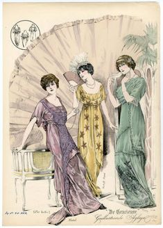 1910-13, Plate 105: Costume Institute Fashion Plates