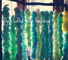 dyed coffee filter backdrop for sweet tables or pics