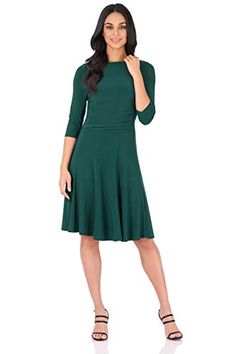 Rekucci Women's Flippy Fit N' Flare Dress with Sleeves Fit N Flare Dress, Fit And Flare, Everyday Dresses, Dresses For Work, Fitness, Sleeves, Stuff To Buy, Smile, Amazon