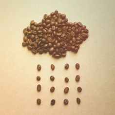 Check out Cloud and rain from coffee beans by Nuchylee Photo on Creative Market