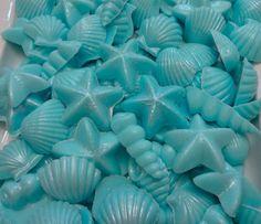 Sea Shells Guest Glycerin Soap Vegan Party Favor by shesthatgirl, $8.50