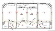Схема электропроводки на плане Floor Plans, Interiors, Interior, Decorating, Floor Plan Drawing, House Floor Plans, Deco