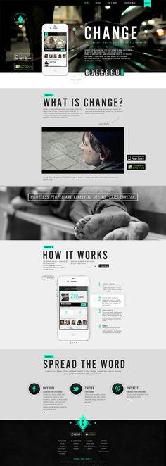 Change – Help make it. – by Linus Lang (http://www.behance.net/rebird) & Katharina Funkenflug (http://www.behance.net/funkenflug) via http://www.designmadeingermany.de -change #app #help #design #madeingermany | #webdesign #it #web #design #layout #userinterface #website #webdesign < repinned by www.BlickeDeeler.de | Take a look at www.WebsiteDesign-Hamburg.de