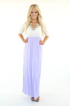 Lime Lush Boutique - Lavender Laced Top Maxi Dress, $52.99 (http://www.limelush.com/lavender-laced-top-maxi-dress/)