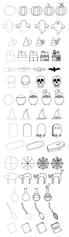 Halloween Bullet Journal: Ultimate Inspo + Doodle Guide ⋆ The Petite Planner - - Getting ready to set up your October Bullet Journal? This post has Halloween bullet journal inspo and a free printable halloween doodle guide to get your started. Easy Halloween Drawings, Fall Drawings, Halloween Doodle, Doodle Drawings, Halloween Inspo, Halloween Items, Halloween Halloween, Bullet Journal Writing, Bullet Journal Ideas Pages