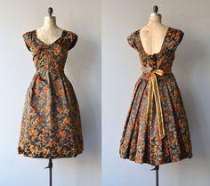 Woody Bittersweet dress vintage silk 1950s dress by DearGolden