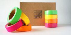 Neon Washi Tape - Neon Green, Neon Yellow, Neon Pink, Neon Orange